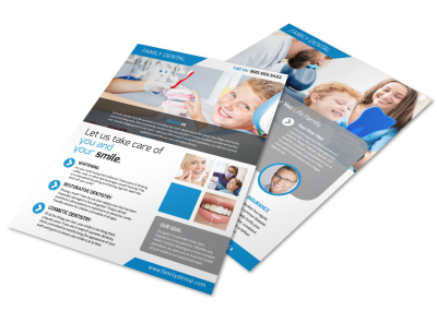 Dental Clinic About Us Flyer Template preview