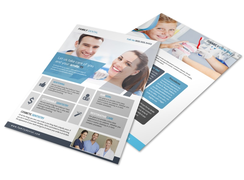Family Dental Services Flyer Template Preview 4