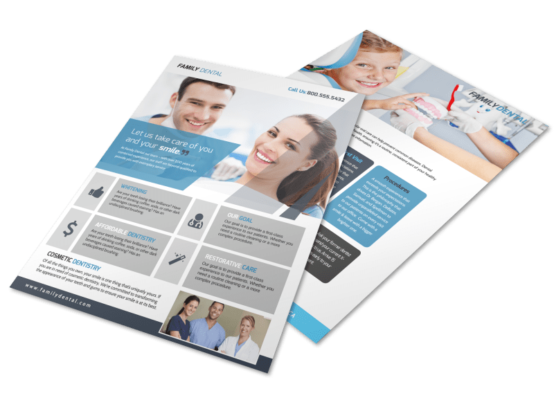 Family Dental Services Flyer Template Preview 1