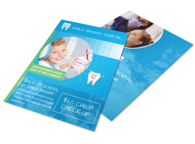 Back To School Dental Pediatric Flyer Template preview