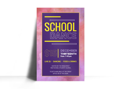 Playful School Dance Poster Template