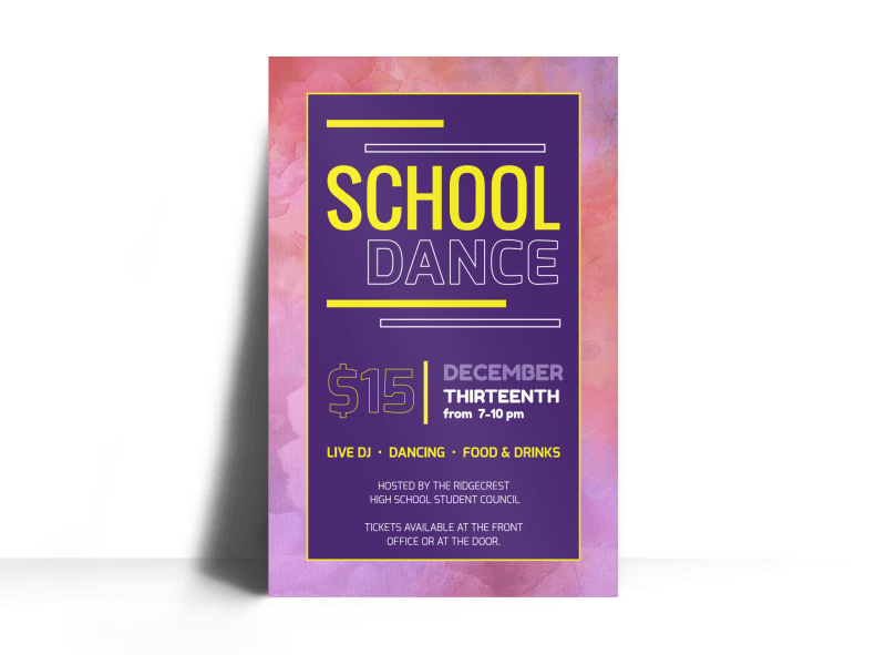 Playful School Dance Poster Template Preview 1