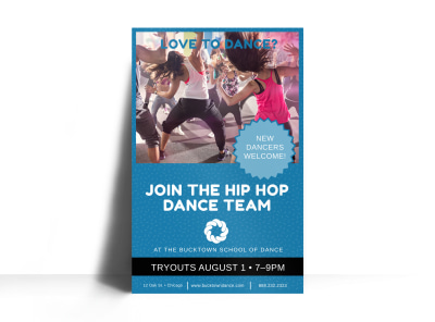 Join The Dance Team Poster Template preview