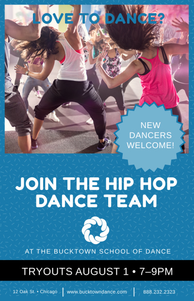 Join The Dance Team Poster Template Preview 1