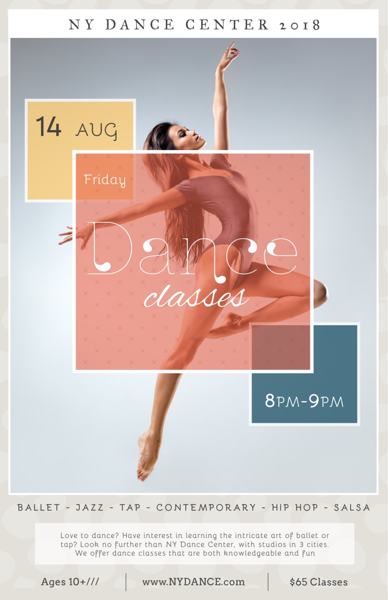 NY Dance Class Poster Template Preview 2