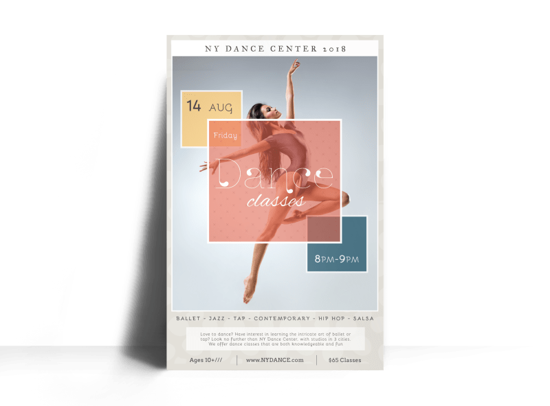 NY Dance Class Poster Template Preview 1