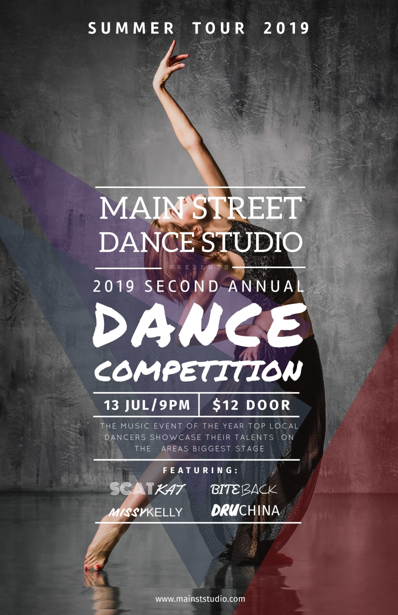 Main Street Dance Competition Poster Template Preview 2