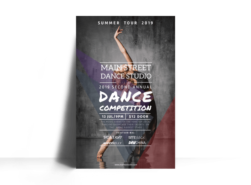 Main Street Dance Competition Poster Template