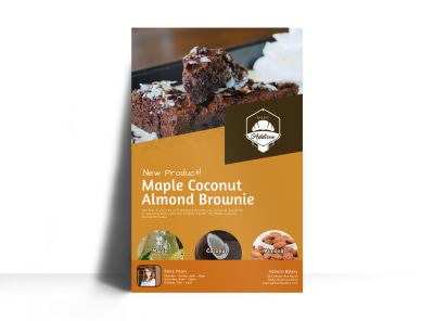 Brownie Bakery Poster Template