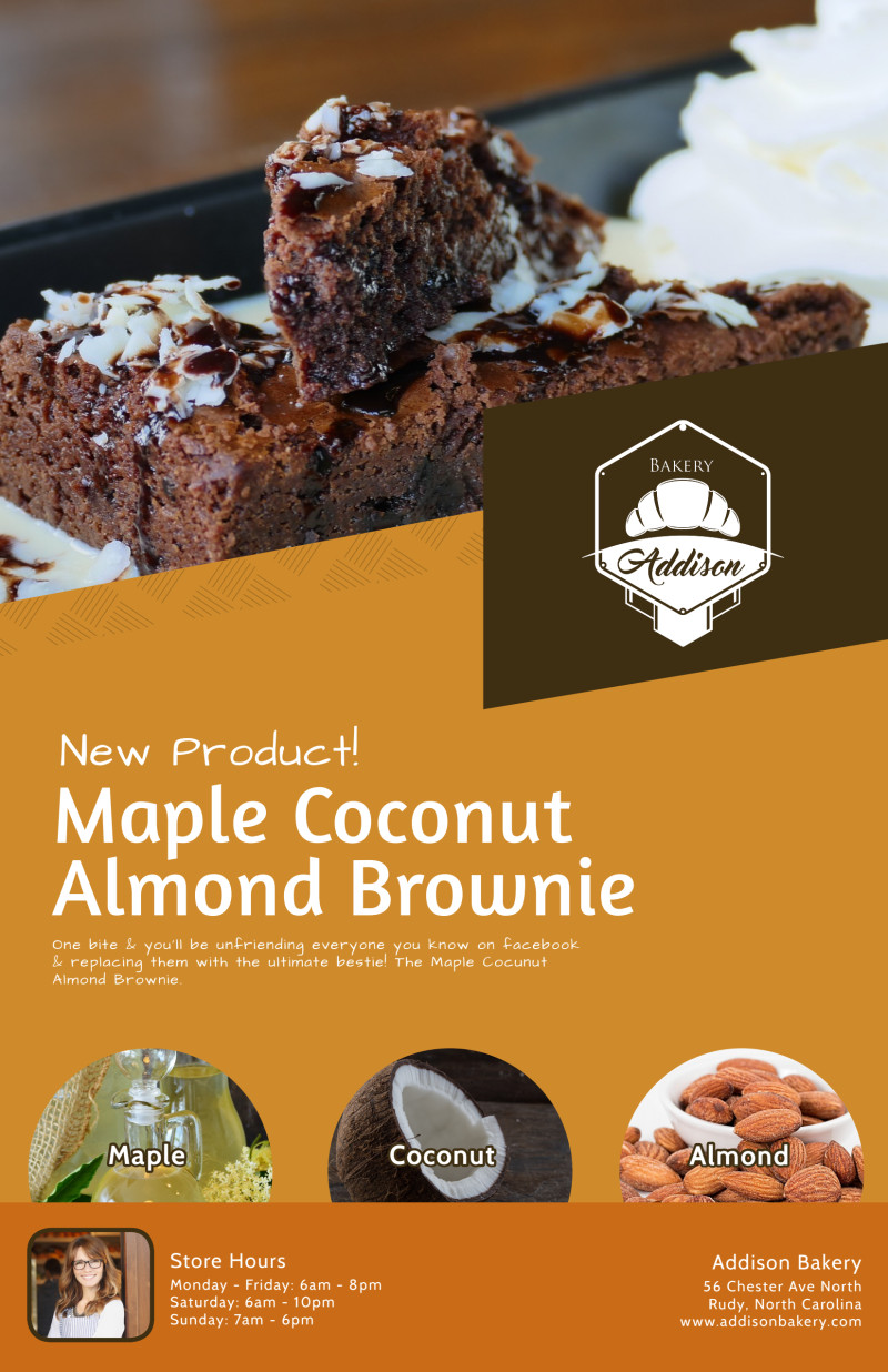 Brownie Bakery Poster Template Preview 2