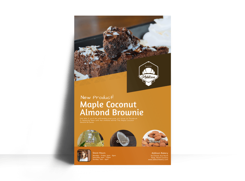 Brownie Bakery Poster Template Preview 1