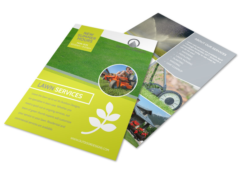 Lawn Mower Service Options Flyer Template