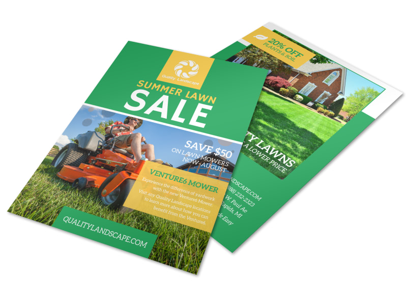 Lawn Mower Summer Offer Flyer Template Mycreativeshop