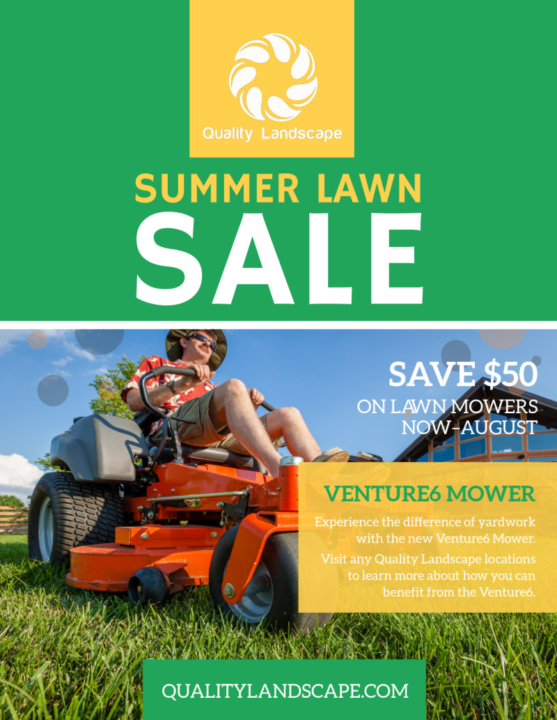 Lawn Mower Summer Offer Flyer Template Preview 2