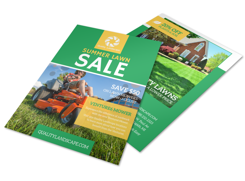 Lawn Mower Summer Offer Flyer Template Preview 1