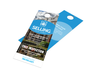 Good Thinking Of Selling Real Estate   Door Hanger Template