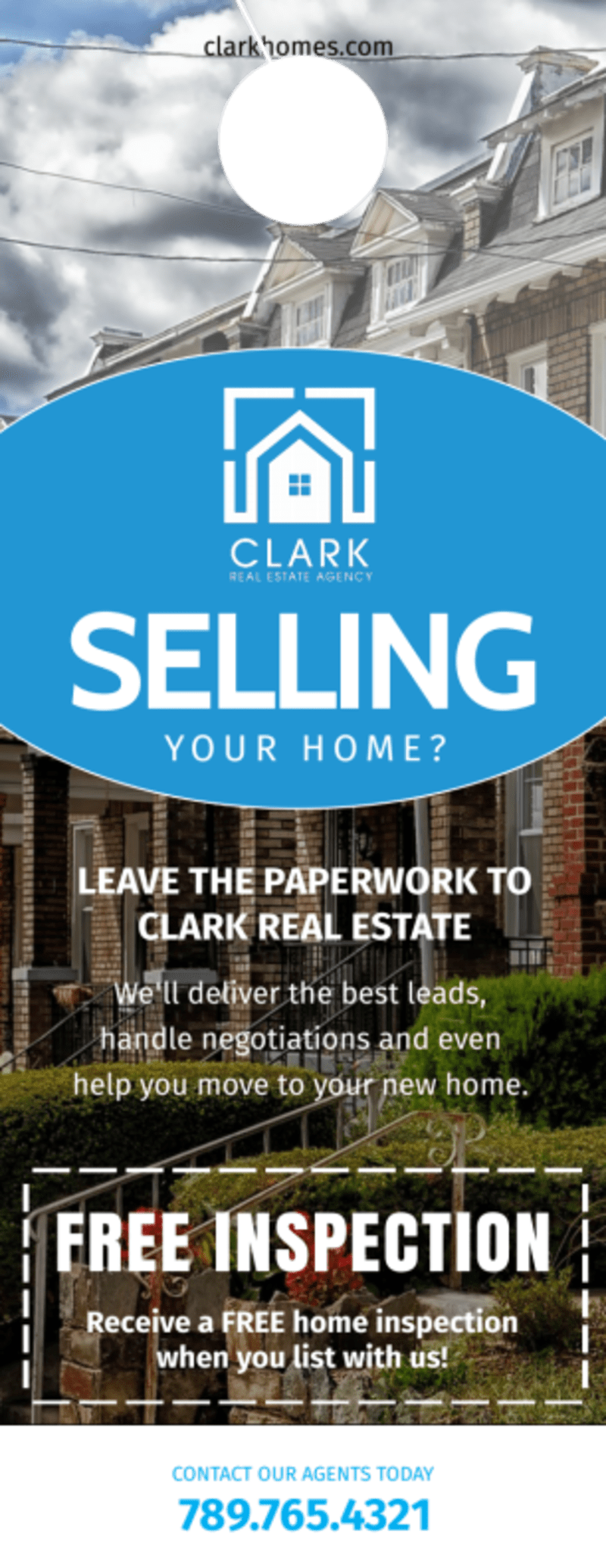 Thinking Of Selling Real Estate - Door Hanger Template Preview 2