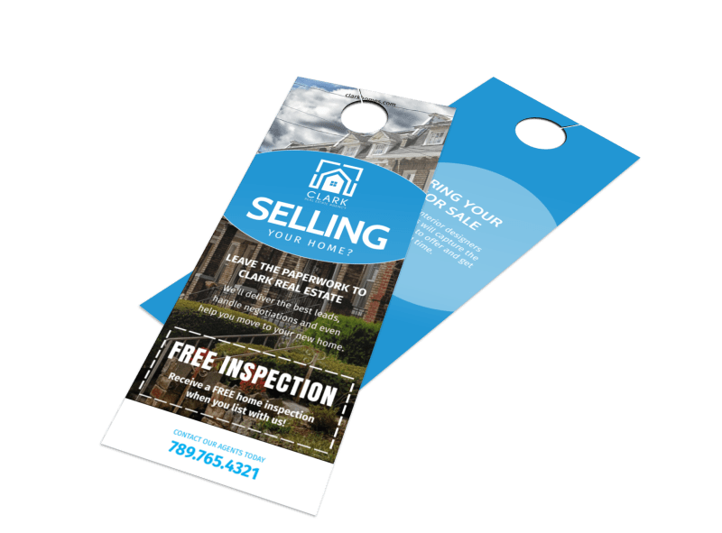 Thinking Of Selling Real Estate - Door Hanger Template Preview 1