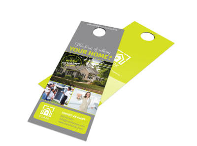 Real Estate Door Hanger Templates MyCreativeShop - Sell your house flyer template