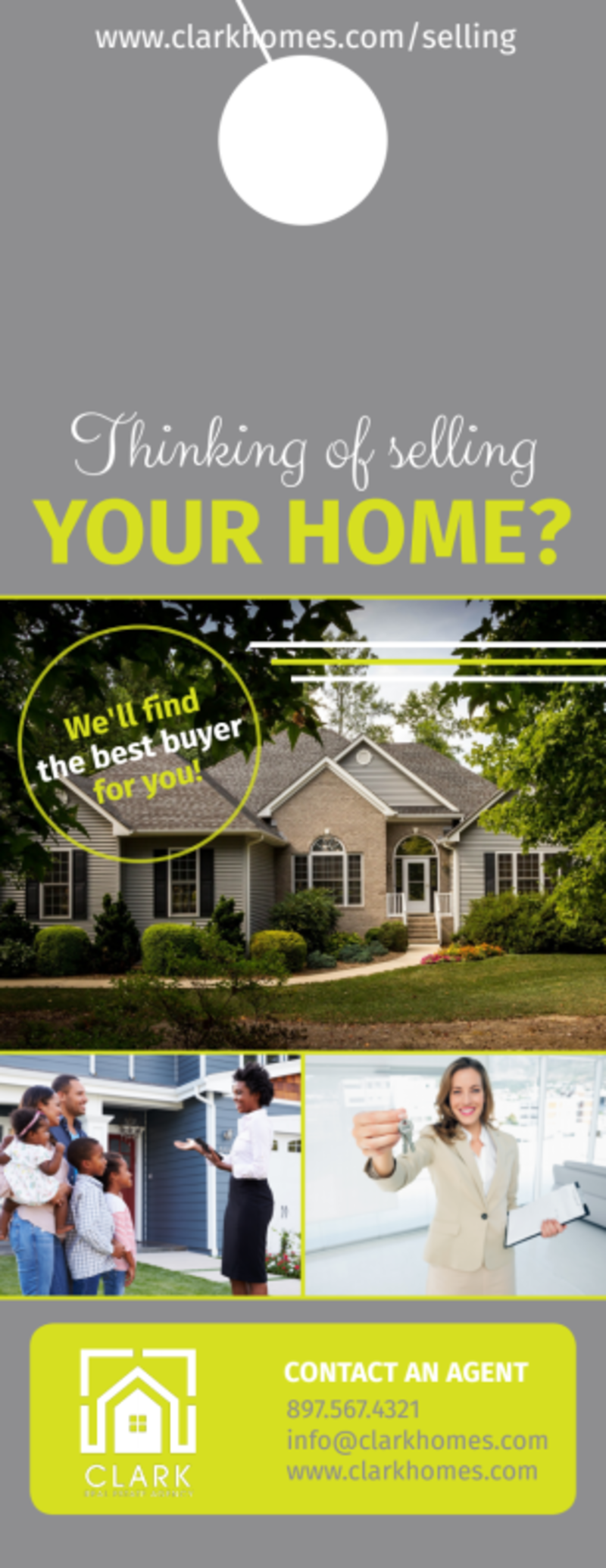 Thinking Of Selling Your Home - Door Hanger Template Preview 2