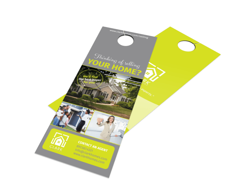 Thinking Of Selling Your Home - Door Hanger Template Preview 1