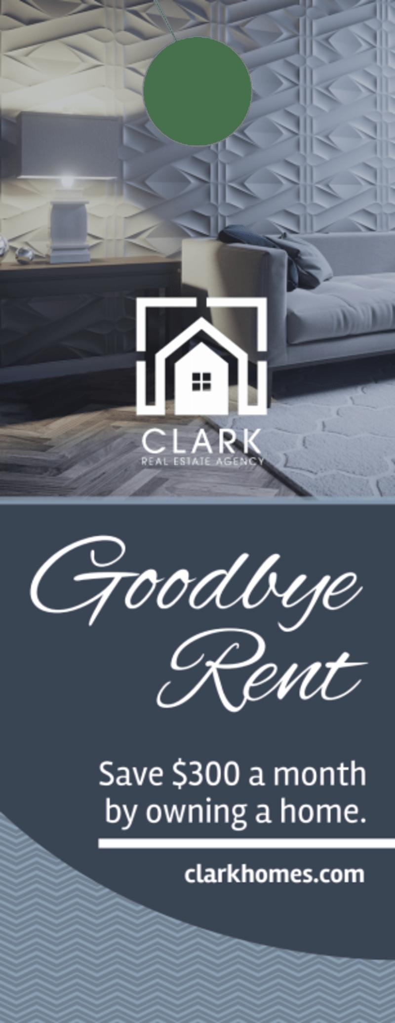 Goodbye Rent Door Hanger Template Preview 2