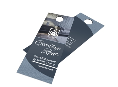 Goodbye Rent Door Hanger Template preview
