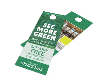 More Green Buy VS Rent Door Hanger Template preview