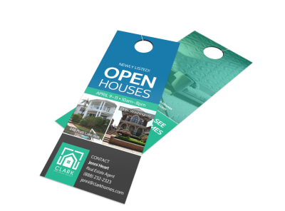 Newly Listed Open House Door Hanger Template preview