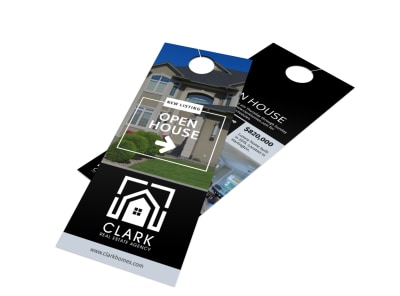 Real Estate Open House Door Hanger Template preview