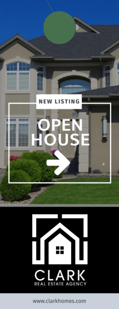 Real Estate Open House Door Hanger Template Preview 1