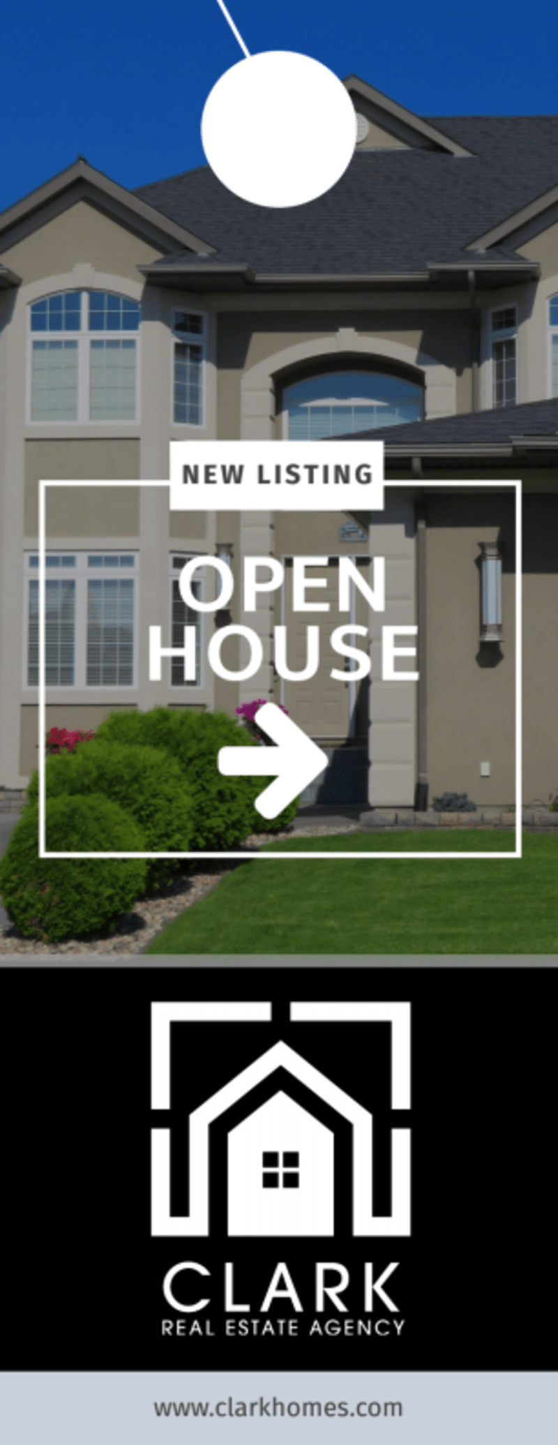 Real Estate Open House Door Hanger Template Preview 2