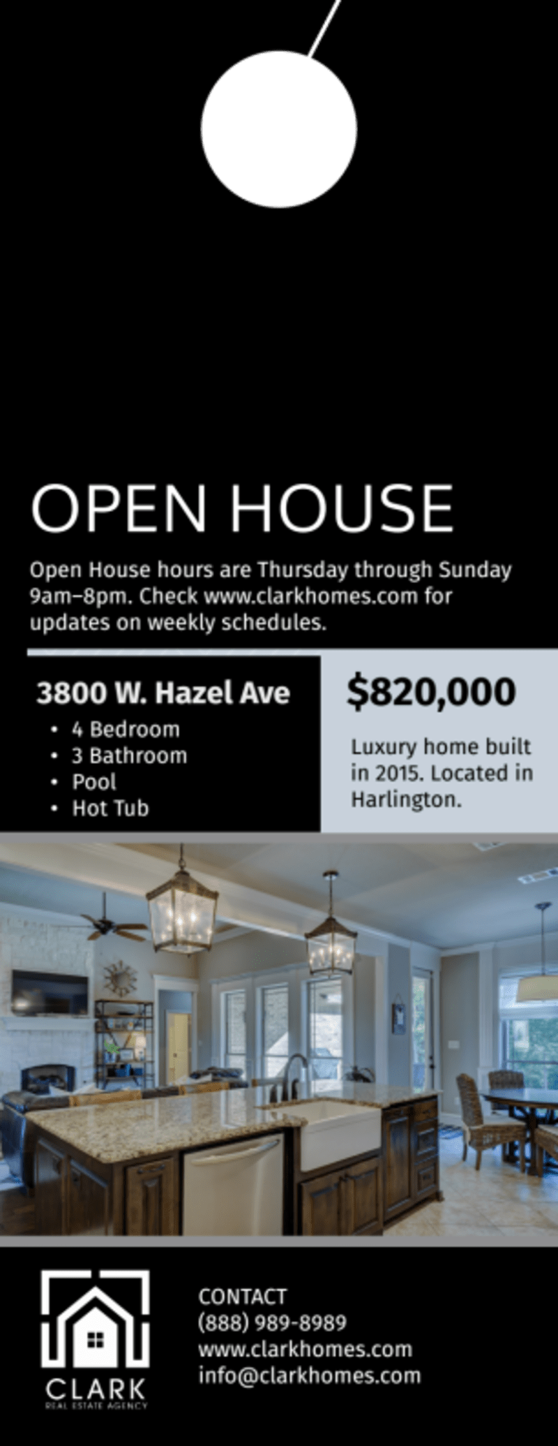 Real Estate Open House Door Hanger Template Preview 3