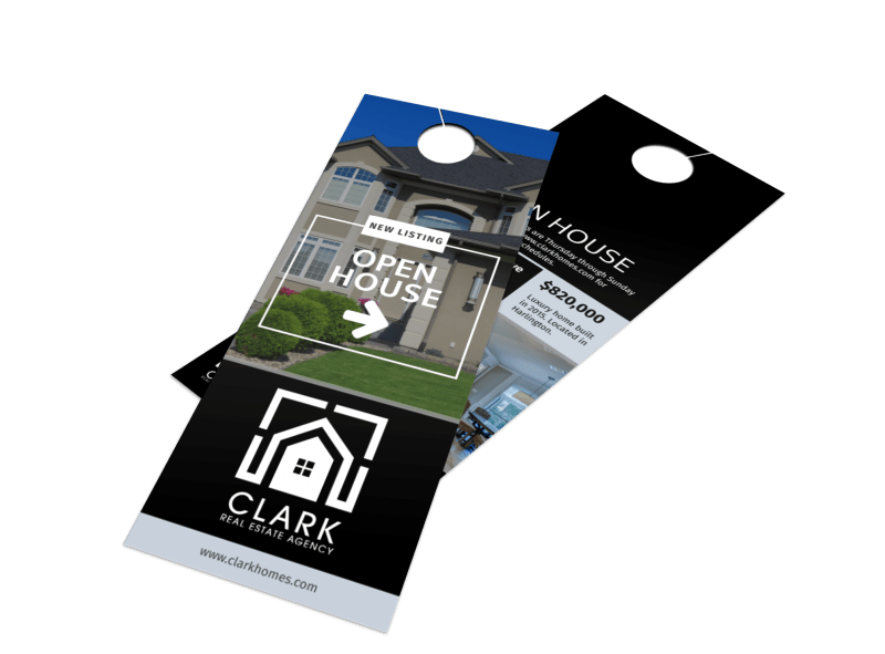 Real Estate Open House Door Hanger