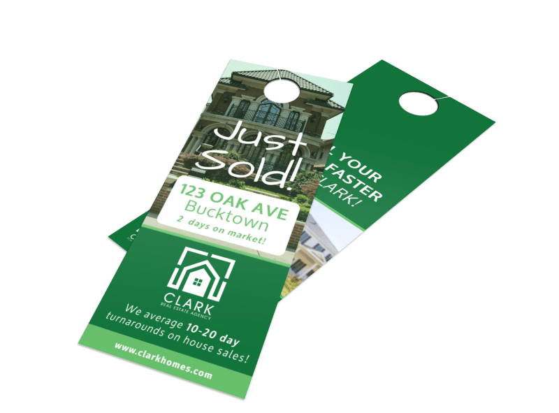 Oak Avenue Just Sold Door Hanger Template Preview 1