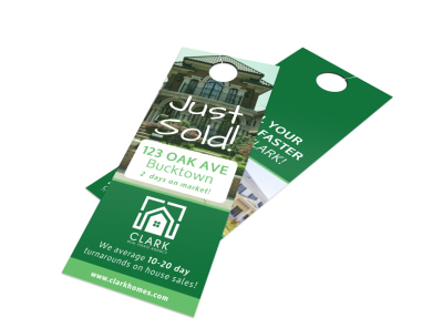 Oak Avenue Just Sold Door Hanger Template preview