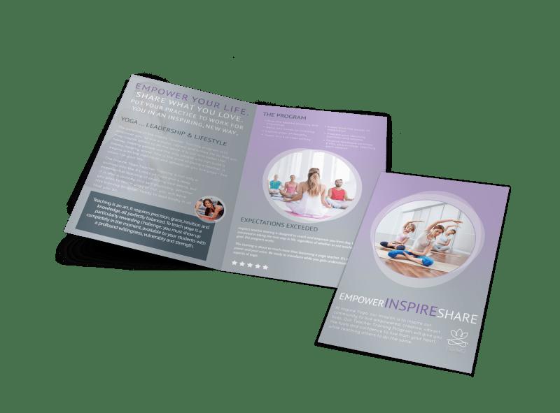 Yoga Teacher Training Bi-Fold Brochure Template Preview 1