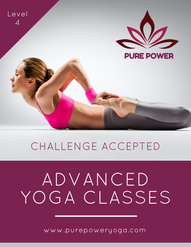 Advanced Yoga Class Details Flyer Template Preview 2