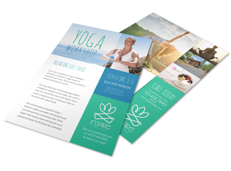 Yoga workshop flyer template mycreativeshop for Yoga brochure templates