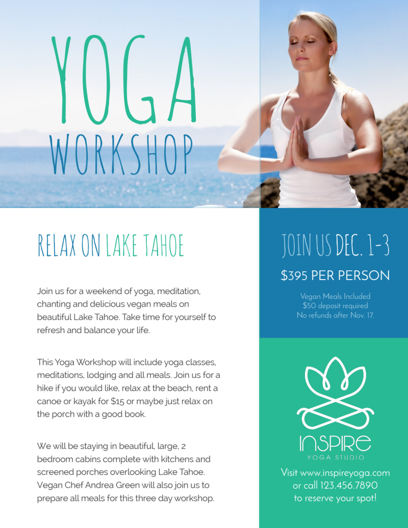 Yoga Workshop Flyer Template Preview 2