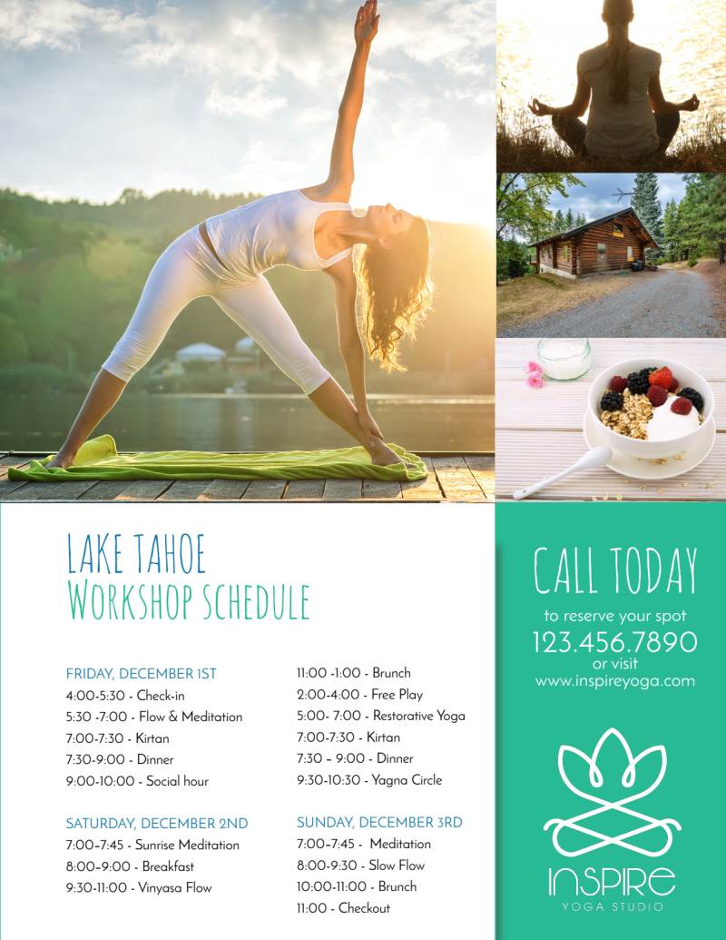 Yoga Workshop Flyer Template Preview 3