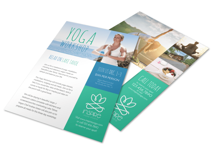 Yoga Workshop Flyer Template Preview 1