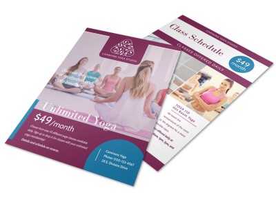 Unlimited Yoga Schedule Flyer Template preview