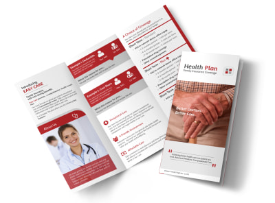 Health Insurance Plan Tri-Fold Brochure Template