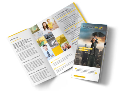 About Our Insurance Agency Tri-Fold Brochure Template preview
