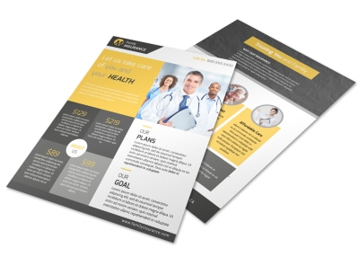 Professional Health Insurance Flyer Template preview
