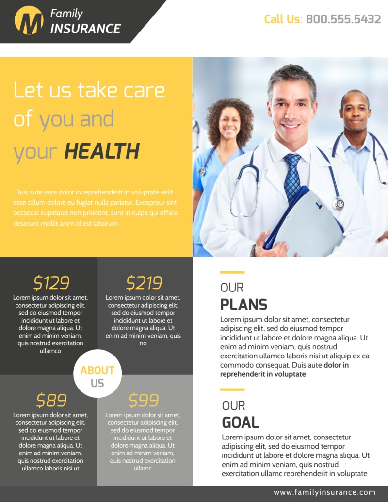 Professional Health Insurance Flyer Template Preview 2