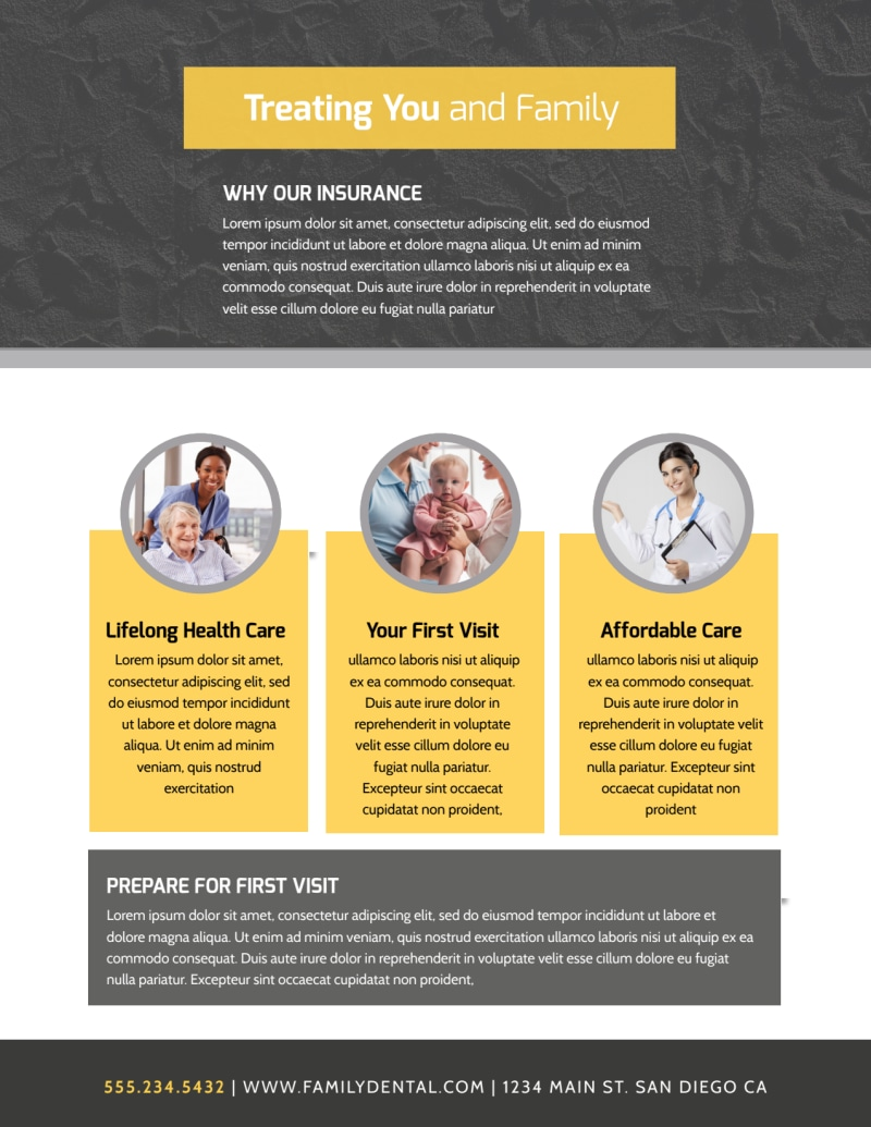 Professional Health Insurance Flyer Template Preview 3