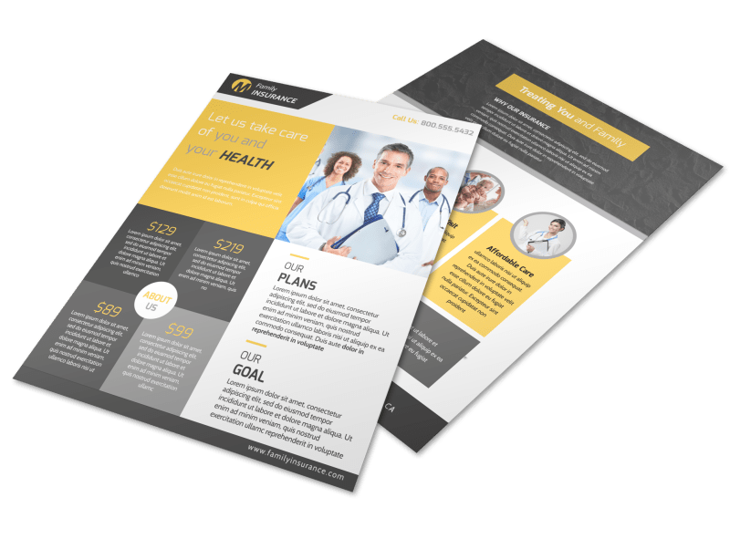 Professional Health Insurance Flyer Template Preview 1