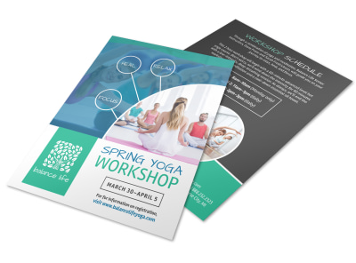 Spring Yoga Workshop Flyer Template MyCreativeShop - Workshop brochure template